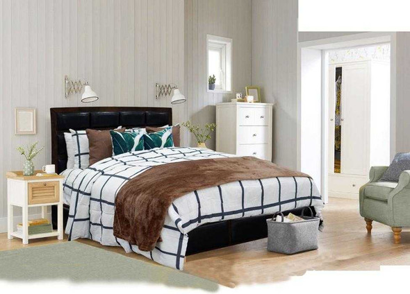 HomeThreads Twin Grid 3-Piece Fitted Bedsheet Set