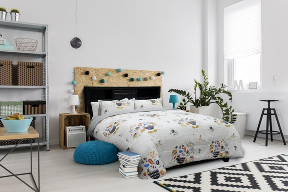 HOMETHREADS Bedsheet 3 Piece Set King Flowers