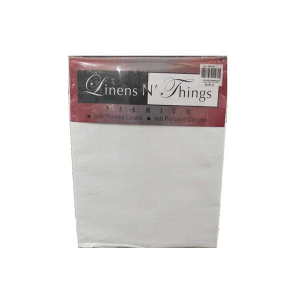 Linens N Things King White 3-Piece Bedsheet
