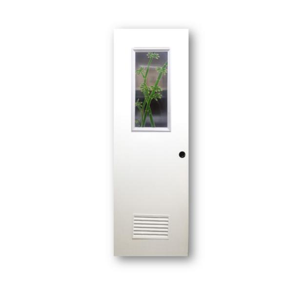 DREAMDOOR PVC Door & Jamb Set w/ Glass Design J005 60x210cm 35mm thick