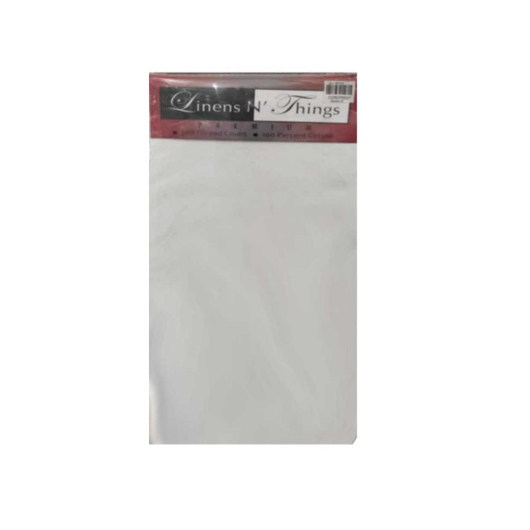 """Linens N Things 20""""x30"""" White 2-Piece Pillow Case (Queen)"""