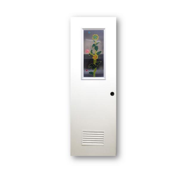 DREAMDOOR PVC Door & Jamb Set w/ Glass Design T013 60x210cm 35mm thick