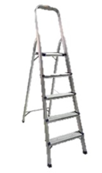 SURESTEP ALUMINUM 5-STEP LADDER W/ HANDRAIL