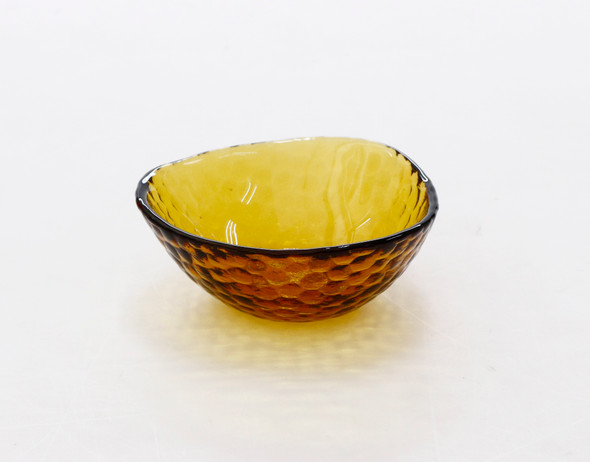 RECTANGULAR SNACK BOWL AMBER