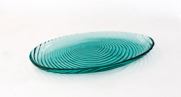 13IN OVAL PLATTER EMERALD GREEN