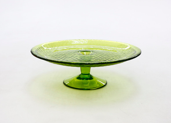 10IN CAKE STAND LIME GREEN