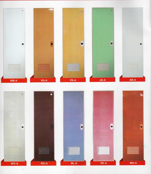DREAMDOOR PVC Door & Jamb Set Jade Green 60x210cm w/ Louver