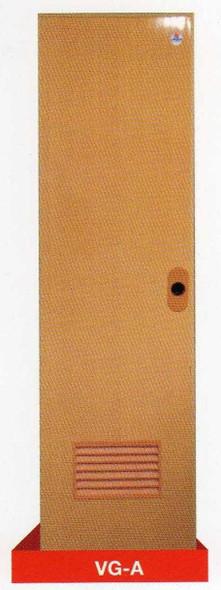 DREAMDOOR PVC Door & Jamb Set Woodgrain 60x210cm w/ Louver