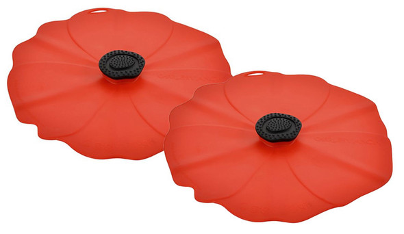 "Poppy Lid 4"" Drink Cover - Set of 2"