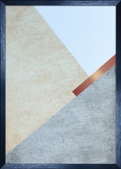 Canvass with Frame Geometric Abstract C SPGY057-BK-01