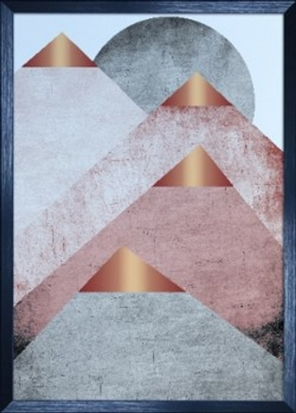 Canvass with Frame Geometric Abstract C SPGY057-BK-02