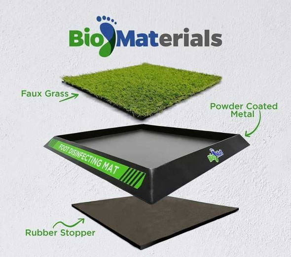 BIOMAT GREEN DISINFECTANT MAT SMALL 13X14INCH