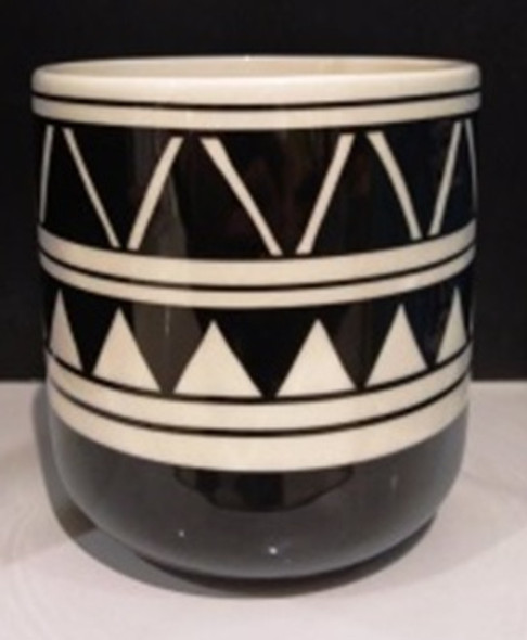ELM JHF1804-038A 17D097H Ceramic Vase with Tribal Design