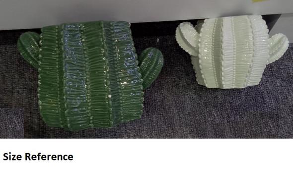 ELM JHF1804-045A 18C076-1A Green Cactus Design Vase/Pot Big