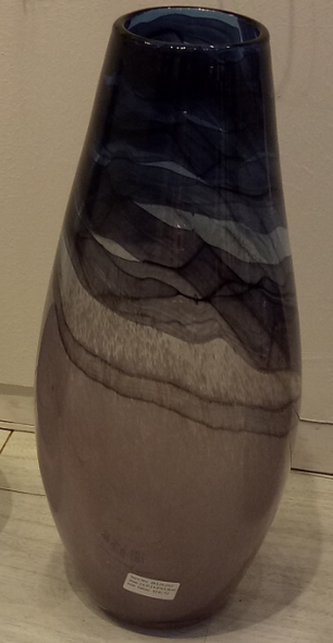 Glass with Black and Brown Vase