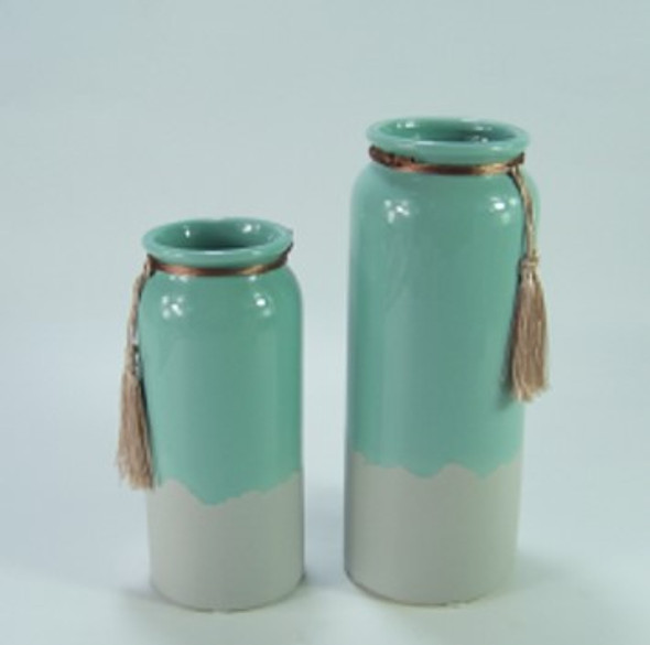 Ceramic Vase Two Tone Design