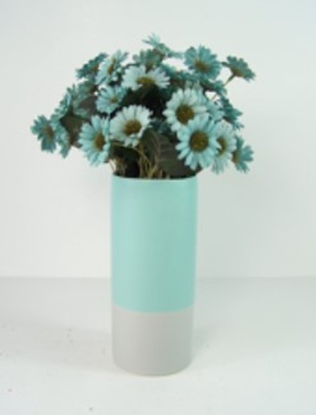 Ceramic Vase Plain Two Tone Design