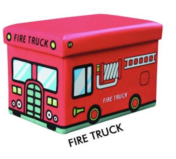 KIDS FIRE TRUCK OTTOMAN