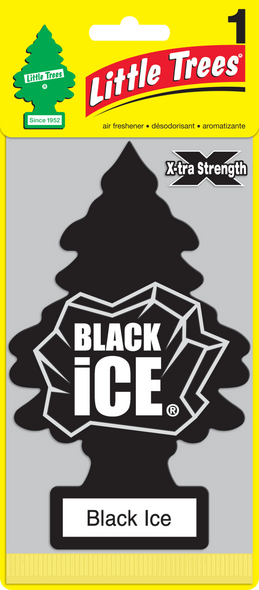 LITTLE TREE AIR FRESHENER XTRA STRENGTH BLACK ICE