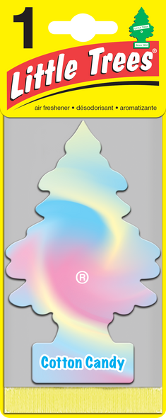 LITTLE TREE AIR FRESHENER TRAD. COTTON CANDY