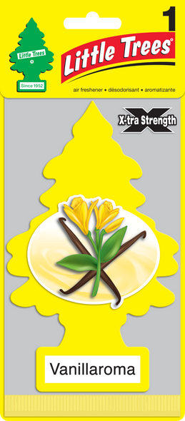 LITTLE TREE AIR FRESHENER XTRA STRENGTH VANILA