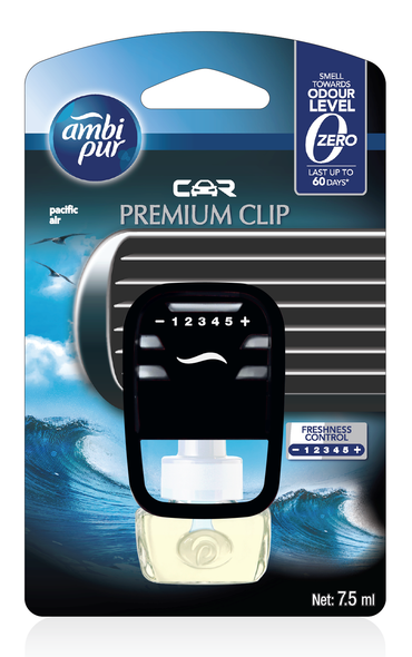 AMBIPUR CAR PREMIUM CLIP STARTER  PACIFIC AIR 7.5ML