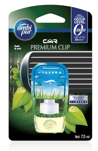AMBIPUR CAR PREMIUM CLIP STARTER FRESH & COOL 7.5ML