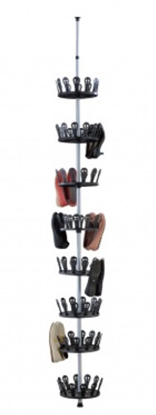 Revolving Shoe Tree, Floor To Ceiling Shoe Spinner