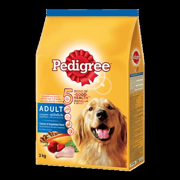 PEDIGREE PET FOOD ,CHICKEN & VEGETABLES 3KG
