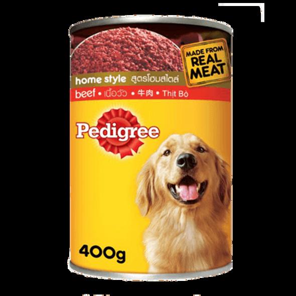 PEDIGREE PET FOOD CANS BEEF 400G