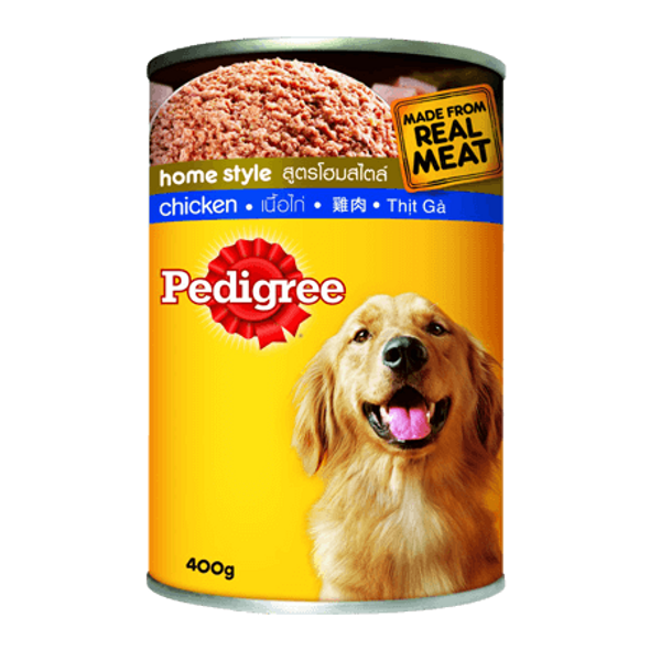 PEDIGREE PET FOOD CANS CHICKEN WITH LIVER 400G