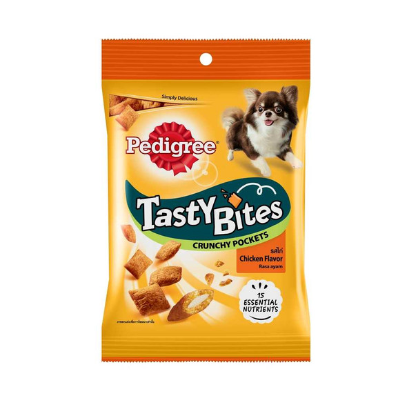 PEDIGREE PET FOOD TASTY BITES POCKETS CHICKEN 60G