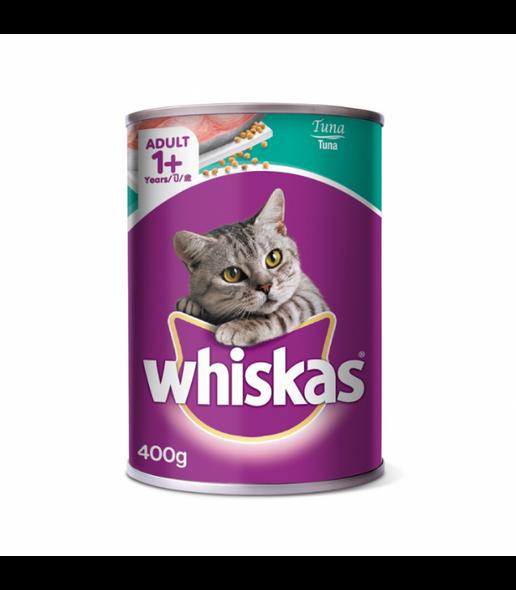 WHISKAS CAT FOOD TUNA 400G