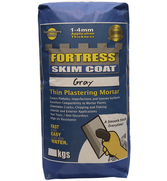 FORTRESS SKIM COAT SUPER FINE GRAY 20KG
