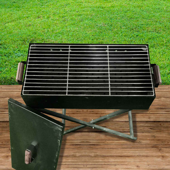 OUTDOOR GRILL RECTANGLE X-STAND WITH COVER