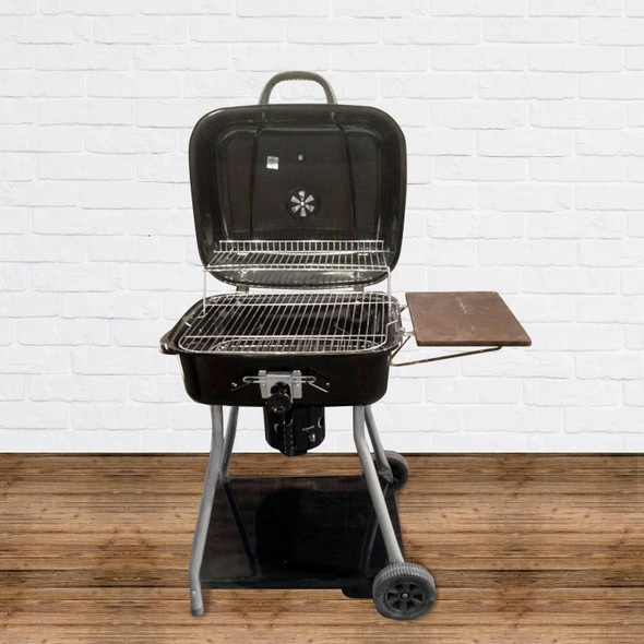 OUTDOOR BBQ WITH ADJUSTABLE GRILL SQUARE