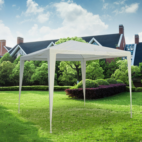 GAZEBO LIGHT DUTY WHITE 2.7 x 2.7 METERS