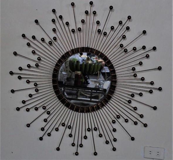 Decorative Wall Mirror Black WM05 37X37