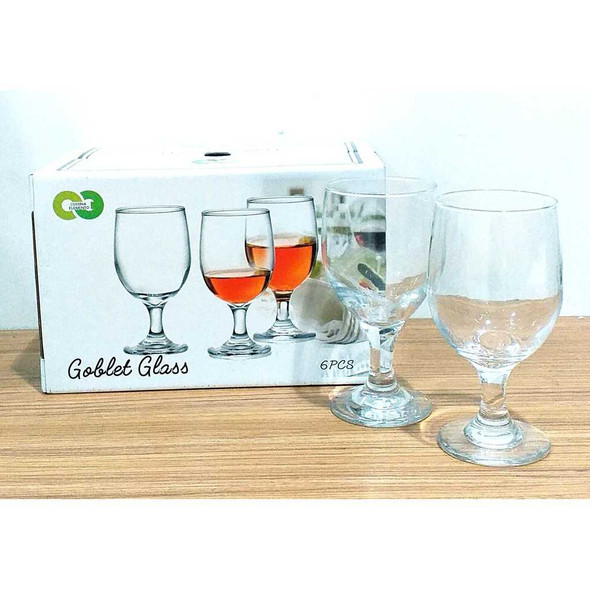 6PCS GOBLET GLASS 11OZ