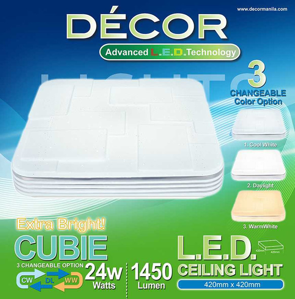 DECOR CUBIE CEILING LAMP 24W 3WAY