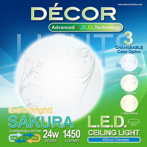 DECOR SAKURA LED CEILNG LIGHT 3 COLOR 24W