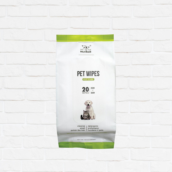 NUNBELL PET WIPES W/ ARGAN EXTRACTS 20'S