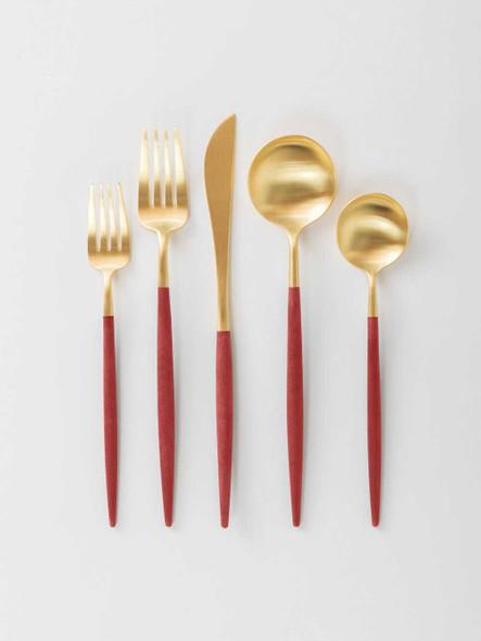 Onaida Gold Red Cutlery