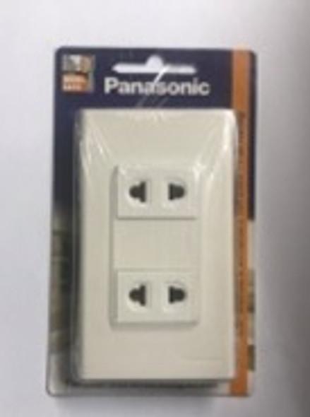 PANASONIC WEG-10919/6802 UNIVERSAL RECEPTACLE W/PLATE 2GANG