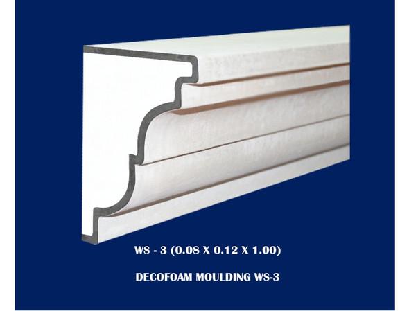 Decofoam Window Sill 0.08x0.12x1.00m