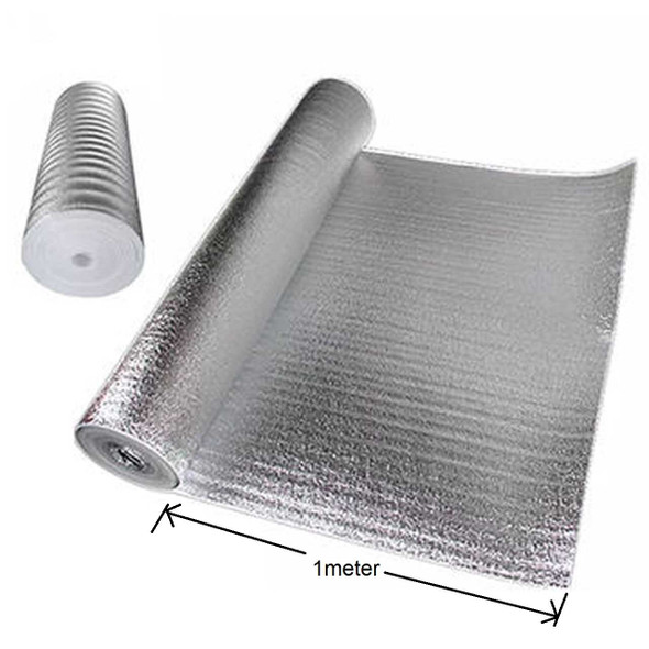 Foam Insulation w/ Aluminum Film Backing 2 sides (1 meter)