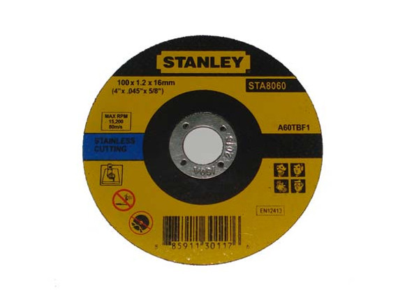 Stanley 4 Cutting Disc M/Ss 100X1.2X16mm