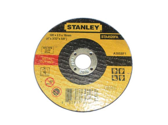 Stanley 4 Cutting Disc M/Ss 100X2.5X16mm