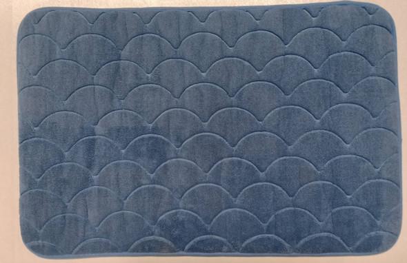 Fluxo Bath Mat 45X70 Scaloop Plain Blue