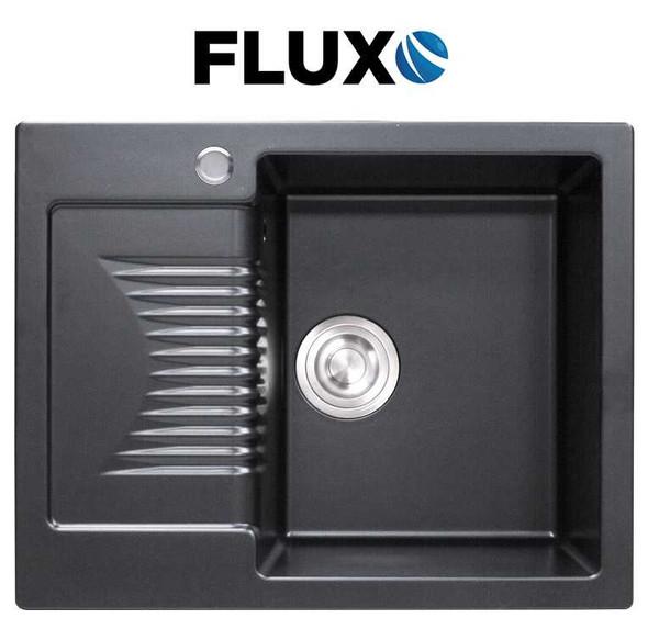 FLUXO FXS-5 QUARTZ STONE SINK & BRD 24x19x9INCH